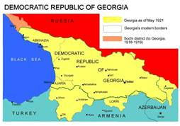 Image result for republic of georgia map